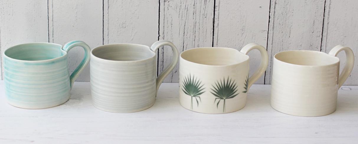 Mug collection hand thrown porcelain nespresso mug