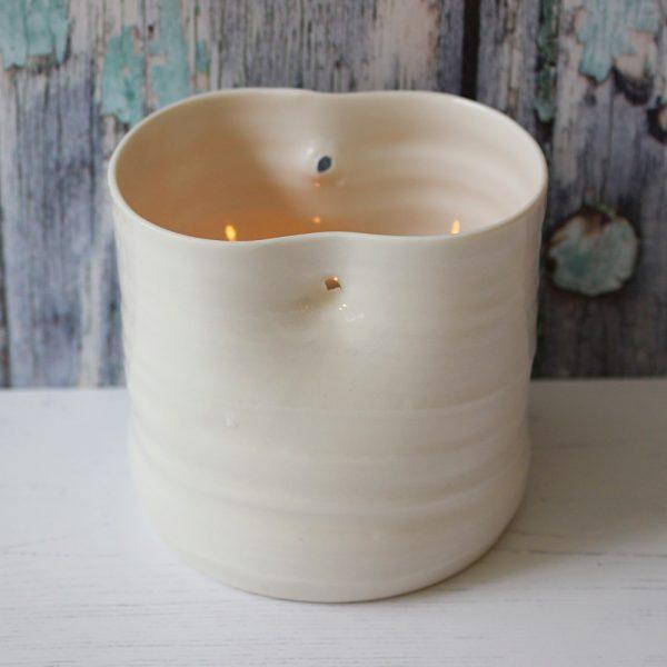 porcelain handmade tea light holder