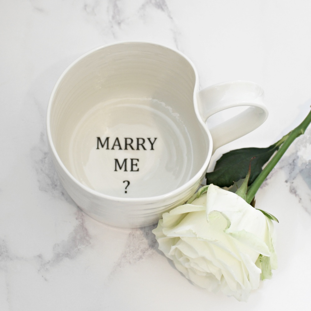 Marriage proposal mug