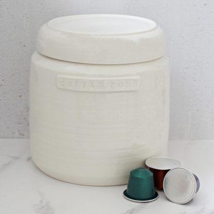 Coffee Pods Nespresso capsule storage jar