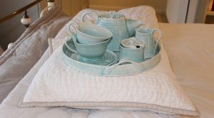 Hand Thrown porcelain tea set for mothers day gift