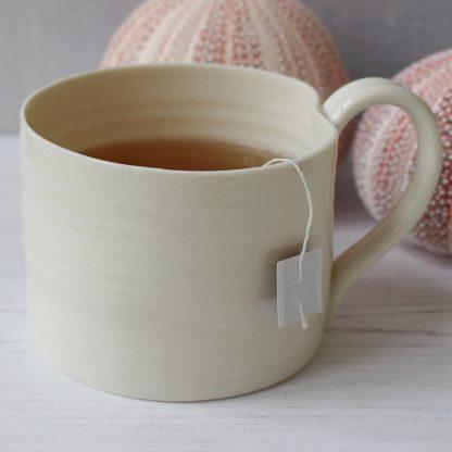 large porcelain mug