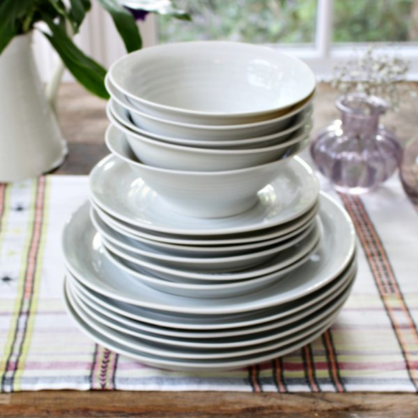 Grey handmade porcelain dinner service
