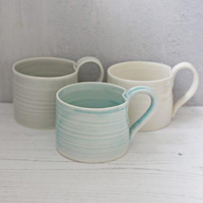 handmade porcelain mugs