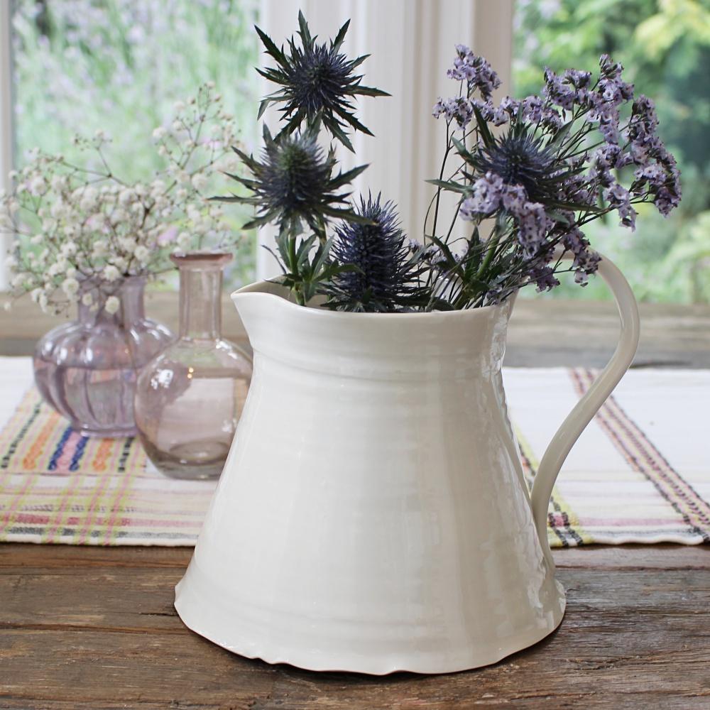 flower water porcelain jug