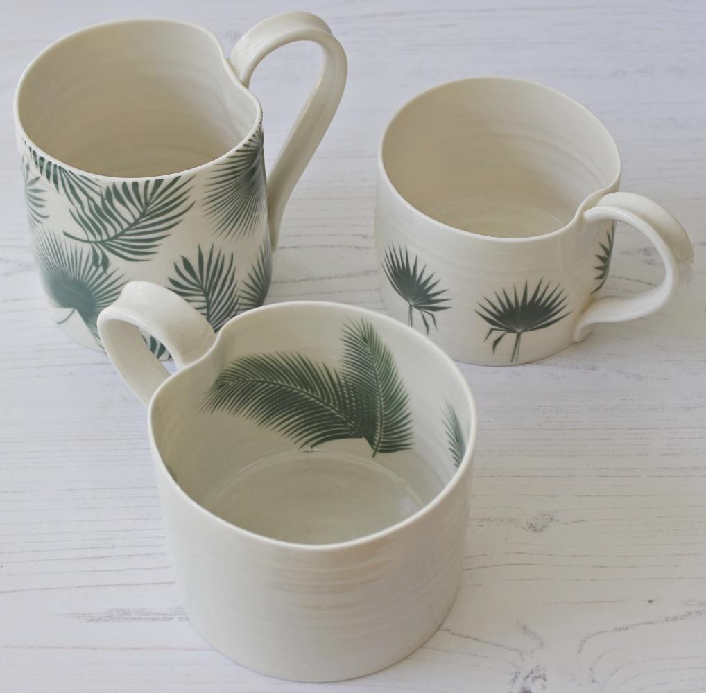Fan Palm Leaf Mini Mug Gemma Wightman Ceramics