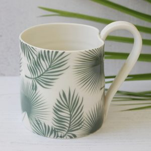Botanical Bliss Palm leaf mug