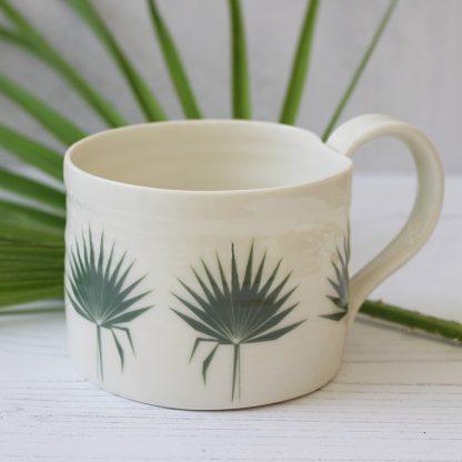 Botanical Bliss Fan Palm Leaf Mug