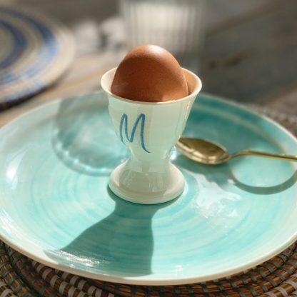 monogram egg cup gift
