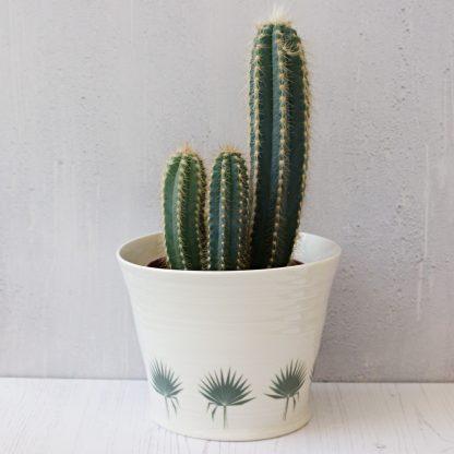 Palm leaf plant pot