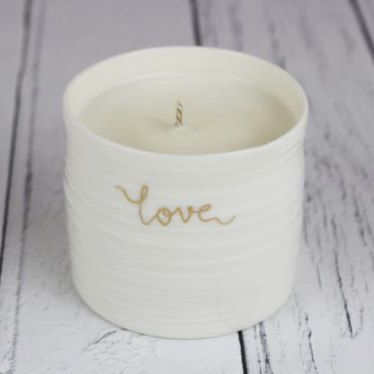 valentines gift candle