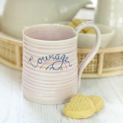 Courage motivational mug gift