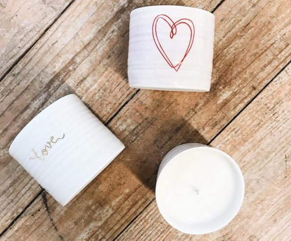 soy heart candle gift